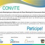 Convite – 1º Conferência Municipal para elaboração do Plano Municipal de Saneamento Básico – PMSB